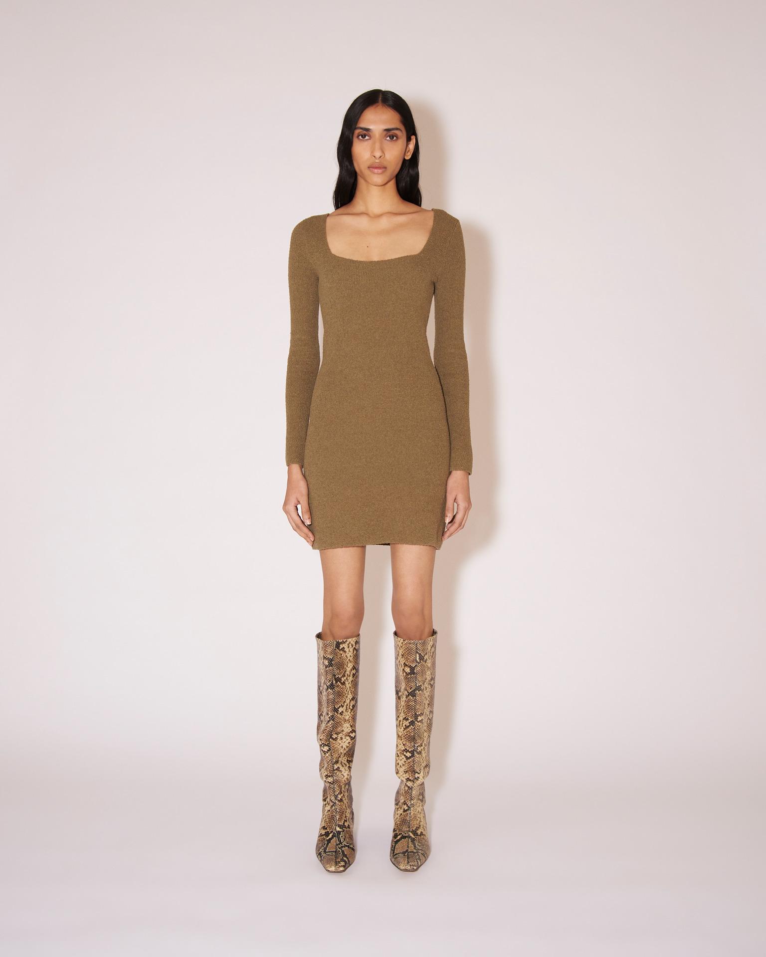 Nanushka LEAH - Terry knit mini dress - Dusty green - S